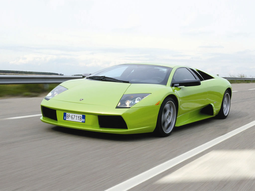 Lime Green Lamborghini 2