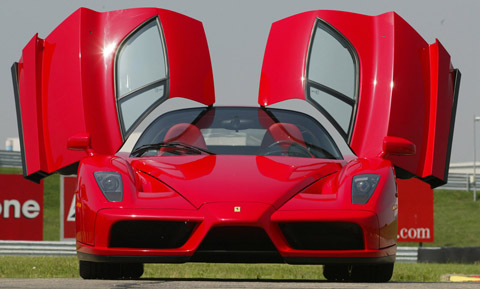 Ferrari Enzo doors open front view
