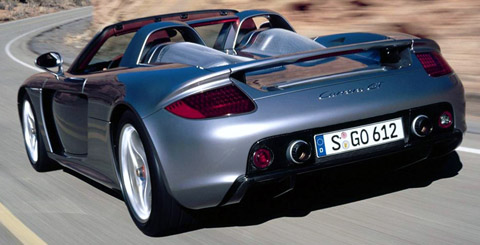 Porsche Carrera GT back view