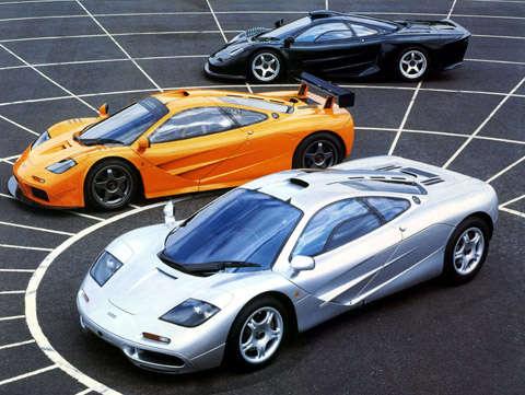 McLaren F1 - 3 different variations