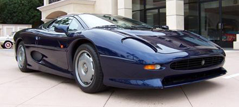 Jaguar XJ220 blue