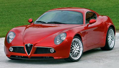 2007 Alfa Romeo 8C Competizione red front view
