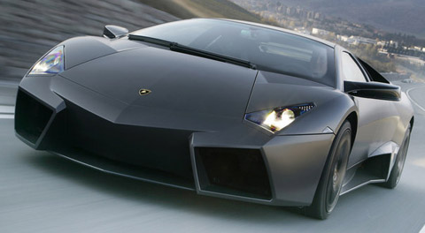 Lamborghini Reventon on the road front view