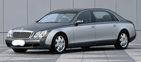 Maybach 62 9th most expensive car in the world