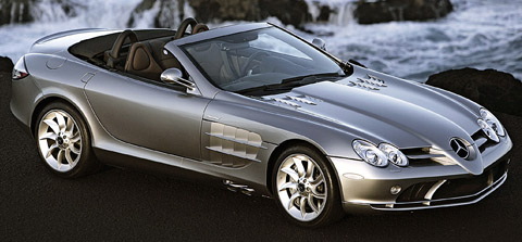 Mercedes-Benz SLR McLaren Roadster side front view