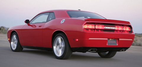 dodge challenger rt 2009 back view