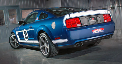 saleen mustang gurney signature edition back view