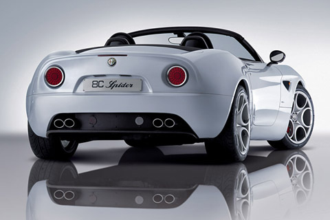 Alfa Romeo 8C Spider back view