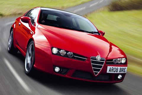 2009 Alfa Romeo Brera S driving