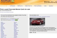 Used Chevrolet Monte Carlo For Sale Buy Cheap Pre Owned