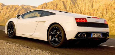 lamborghini gallardo lp560-4 back view