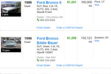 ford bronco  sale  owner buy cheap pre owned ford bronco