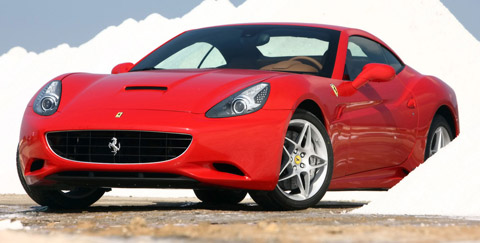 2009 Ferrari California in red