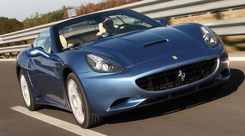 2009 Ferrari California in blue
