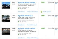 Used Hyundai Azera For Sale Buy Cheap Pre Owned Hyundai Cars