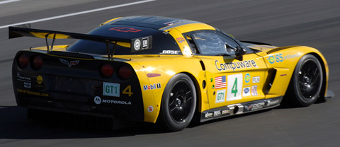 2008 Chevrolet Corvette C6-R back view