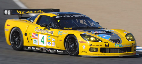 2008 Chevrolet Corvette C6-R yellow front view
