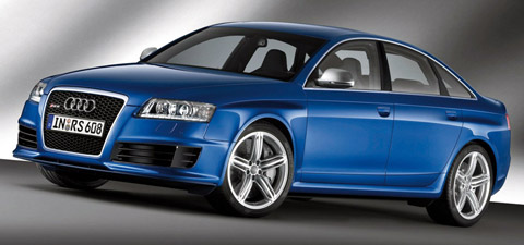 2009 Audi RS6 blue front view