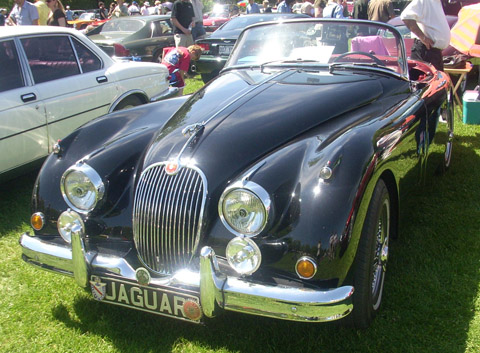 1958 Jaguar XK150 at the 2008 Hudson British Car Show