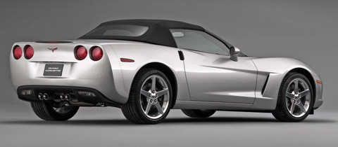 2005 Chevrolet Corvette C6 Convertible Side View