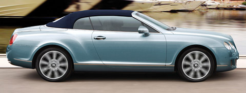 2009 Blue Bentley Continental GTC Speed Side View