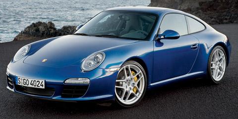 2009 Porsche 911 Carrera S Blue Front View