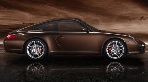 2009 Porsche 911 Carrera S Brown Color Side View