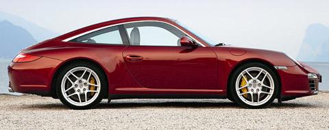 2009 Porsche 911 Targa 4S Red Side View