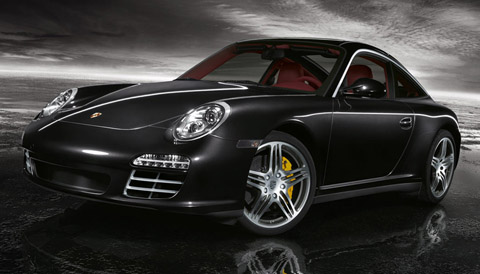 2009 Porsche 911 Targa 4S Black Front View