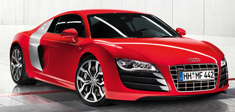 2010 Audi R8 V10 Red Front View
