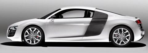 2010 Audi R8 V10 White Side View
