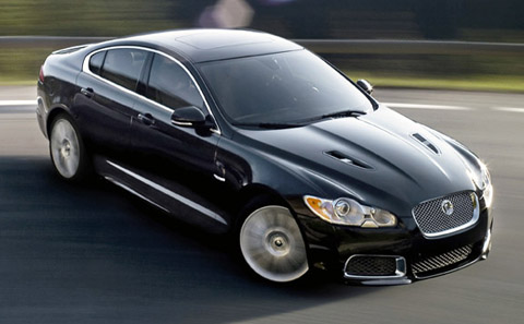 2010 Jaguar XFR spinning