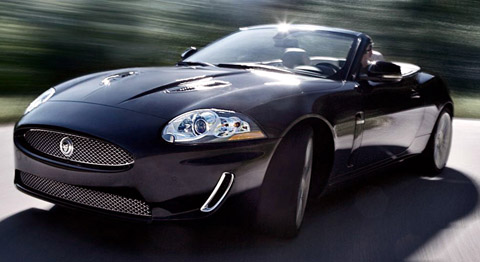 2010 Jaguar XKR black with open roof
