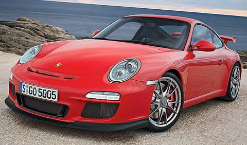 Porsche 911 GT 3 red front view