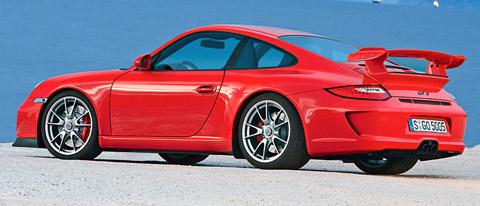 2010 Porsche 911 GT3 red side view