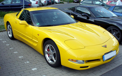 Chevrolet Corvette C5 yellow
