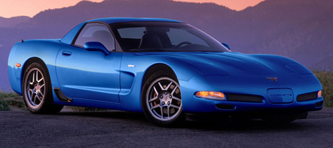Chevrolet Corvette C5 Z06 blue side view