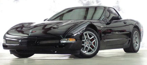 Chevrolet Corvette C5 Z06 black front view