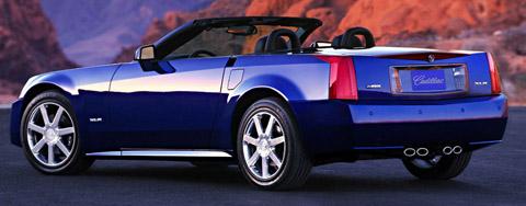 2004 Cadillac XLR blue side view