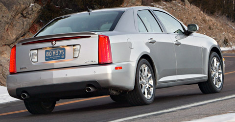 Cadillac STS back view
