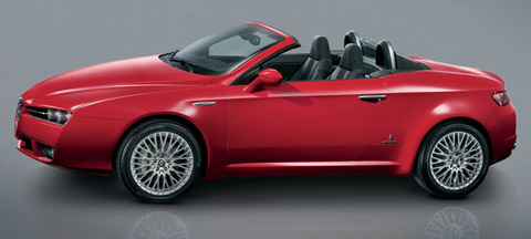 2006 Alfa Romeo Spider red side view