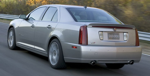 Cadillac STS V back view
