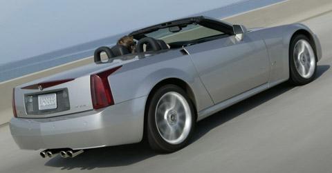 2006 Cadillac XLR-V back view