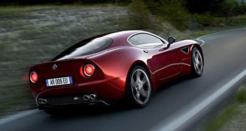 2007 Alfa Romeo 8C Competizione red back view