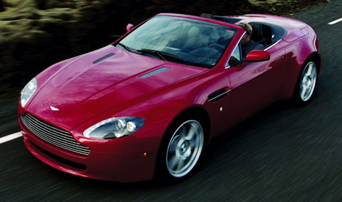 2007 Aston Martin V8 Vantage Roadster red