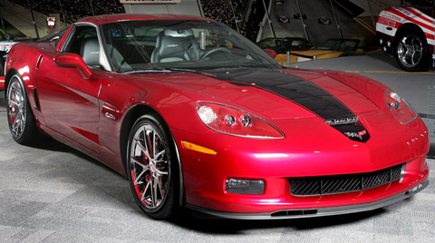 2008 Corvette 427 Special Edition Z06 red