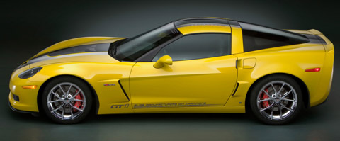 2009 Chevrolet Corvette GT1 Championship Edition yellow side view