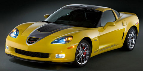 2009 Chevrolet Corvette GT1 Championship Edition yellow