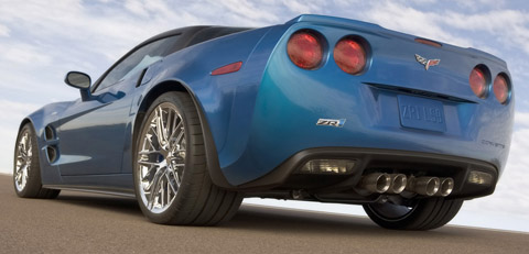 2009 Chevrolet Corvette ZR1 blue back view