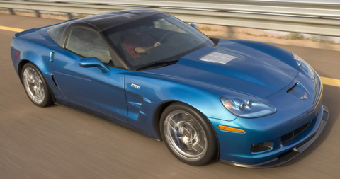 2009 Chevrolet Corvette ZR1 blue